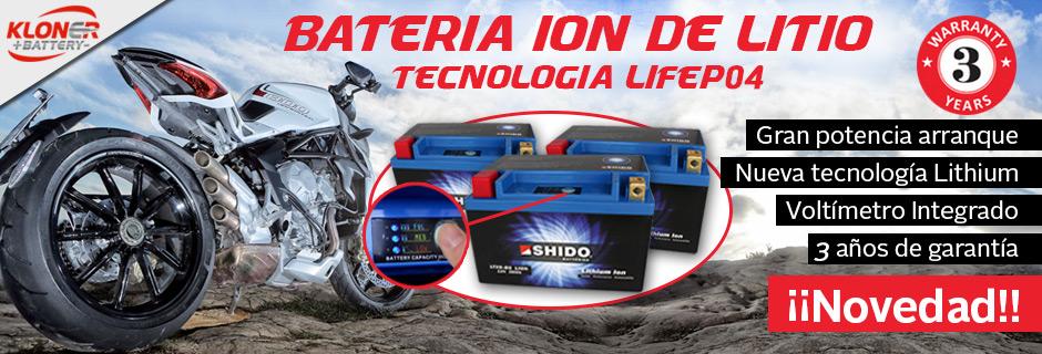 Baterias Shido de Litio ¡¡Oferta DICIEMBRE!!
