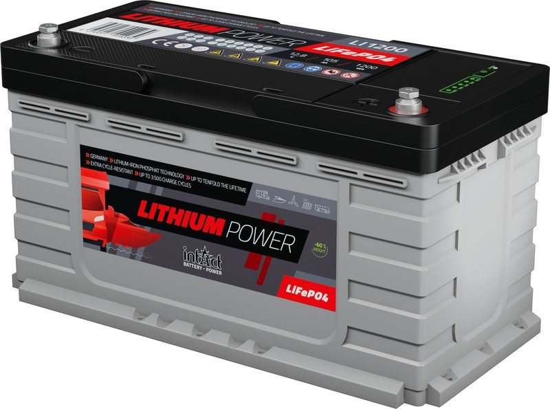 Intact Lithium 105ah/ 1200Wh   auxiliar autocaravanas, Nautica, Solar.