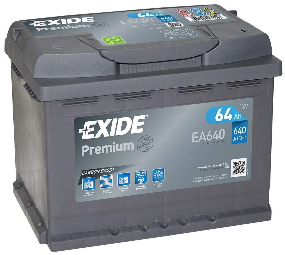 EXIDE EA640 | 64ah 640A | GAMA ALTA ¡¡OFERTA!!