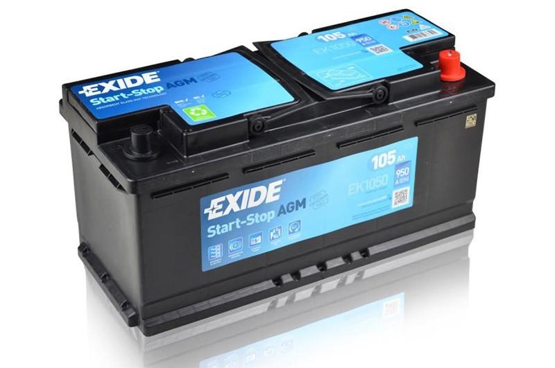 EXIDE EK1050 AGM 105Ah 950A