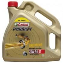 Aceite Castrol Power1 20w50 Motos 4T - 4L.  Envio incluido.