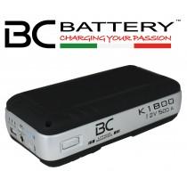 Arrancador BC K1800 500A ion de litio LiFePO4 (arrancador & cargador USB)