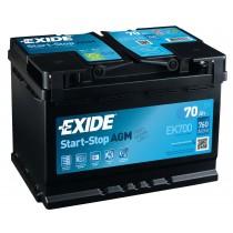 Exide EK700 AGM 70ah 760A
