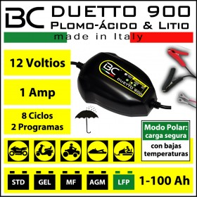 CARGADOR BC-DUETTO 900 (BATERIA ACIDO-PLOMO + BATERIAS DE LITIO )